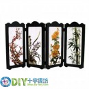 4 Panels Mini Folding Screen